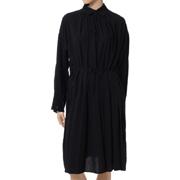 リト ロングシッピングシャツ ヴィスコースウール ブラック