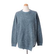 コーヘン  丸襟裾変形セーター カシミア グリーン