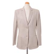 アニオナ テーラードジャケット 羊毛カシミア ミルクティ