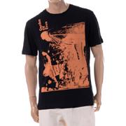 ラフシモンズ GardenofEvenスリムフィットTシャツ コットン ブラック