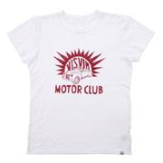 ビズビム レッドプリントTシャツ ホワイト