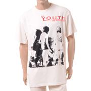ラフシモンズ YOUTHREANIMATOR ビッグフィットTシャツ コットン エクリュ