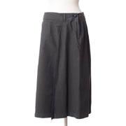 パドカレ 膝丈のスカート ウオッシャブルコットン オリーブグリーン