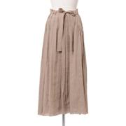 パドカレ チュール付きスカート リネンキュプララメ ゴールド