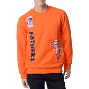 ラフシモンズ トレーナー Regular fit sw eater FATHERS 19006 Orange コットン オレンジ