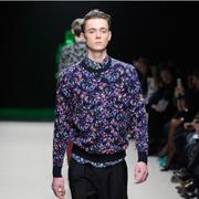 クリスヴァンアッシュ セーター round neck sweater confetti メリノウールヤーン マルチ