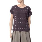 マックスマーラ ビーズ刺繍Tシャツ WEEKEND チョコレートブラウン