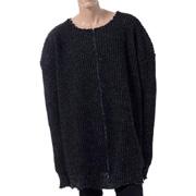 ラフシモンズ オーバーサイズビッグニットセーター ブラック