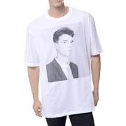 ラフシモンズ Tシャツ コットンストレッチ ホワイト