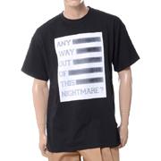 ラフシモンズ ANY WAY OUT OF NIGHTMARE イージーフィットTシャツ ブラック