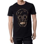 アレキサンダーマックイーン Tシャツ スカルジッププリント コットン ブラック