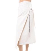 アンドゥムルメステール ロング巻きスカート オフホワイト