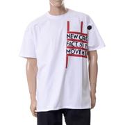 ラフシモンズ ニューオーダーピーターサヴィルレギュラーフィットTシャツシャツ コットン ホワイト