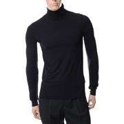 ラフシモンズ ロールネックTシャツ ブラック