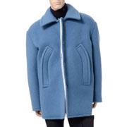 ラフシモンズ ダブルボタンショートジャケット ブルー