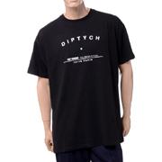 ラフシモンズ DIPTYCH ツアープリントビッグフィットTシャツ コットン ブラック
