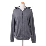 ブルネロクチネリ フード付きセーター コットンシルクストレッチ グレー