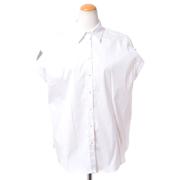 ブルネロクチネリ ロールアップシャツ コットンストレッチ ホワイト