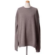 ハイダーアッカーマン オーバーフィットニットセーター 羊毛×シルク モカ茶