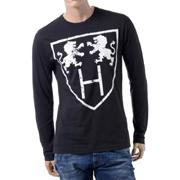 ハイドロゲン ロングTシャツ ブラック