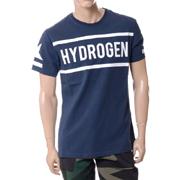 ハイドロゲン ブランドロゴTシャツ ネイビー