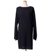 アンドゥムルメステール ロングスリーブドレス ウールストレッチ ブラック