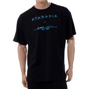 ラフシモンズ アタラクシア・ビッグフィットツアーTシャツ コットン ブラック