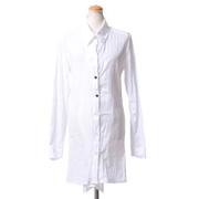 アンドゥムルメステール シャツ襟ロング丈ブラウス コットン ホワイト