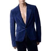 ハイダーアッカーマン (Haider Ackermann) OMEGA ジャケット ベロア ブルー