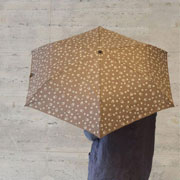 ルシアンペラフィネ 折り畳み傘 ベージュスカル ブラウン