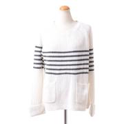 ペニーブラック オーバーサイズセーター ウール混合 ホワイトブラック