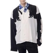 ハイダーアッカーマン ショールカラーシャツ シルク ホワイト