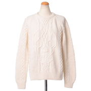 アレキサンダーマックイーン ざっくりとしたセーター スカル編み ホワイト