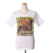 ディースクエアード D2ジャングルプリントTシャツ コットン ホワイト