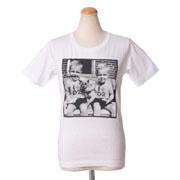 ディースクエアード ツインズプリントTシャツ コットン ホワイト