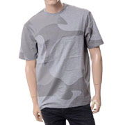 エンポリオアルマーニ ミリタリープリントラウンドネック半袖Tシャツ グレー