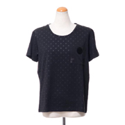 エンポリオアルマーニ ドッドプリント半袖Tシャツ コットンジャージー ブラック