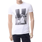 アルマーニジーンズ スニーカープリントTシャツ ホワイト
