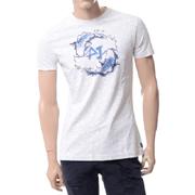 アルマーニジーンズ AJ柄プリント半袖Tシャツ ホワイト