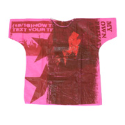ラフシモンズ 世界100着限定ハンドペインテッドホスピタルTシャツ ピンク1