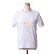 シーバイクロエ ロゴTシャツ アイスドリンクプリント ホワイト