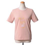シーバイクロエ ロゴTシャツ アイスドリンクプリント ピンク