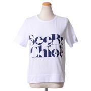 シーバイクロエ ロゴプリントTシャツ コットン ホワイト