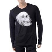 アレキサンダーマックイーン スカルプリントロングTシャツ ブラック