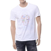 アレキサンダーマックイーン ボックススカルプリントラウンドネック半袖Tシャツ コットン ホワイト