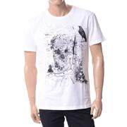 アレキサンダーマックイーン ロンドンマップスカルプリントTシャツ ホワイト