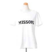 ミッソーニ ロゴ半袖カットソー コットンジャージー ホワイト