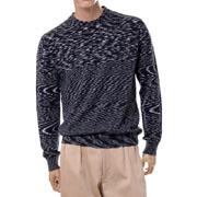 ミッソーニ 丸襟セーター ウールミックス ブラックミックス