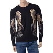 ニールバレット フクロウプリントロングTシャツ ブラック