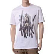 ニールバレット モナリザコラージュラウンドネック半袖Tシャツ コットン ホワイト